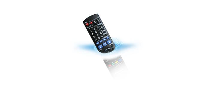 Visuel télécommande appareil interface RU990