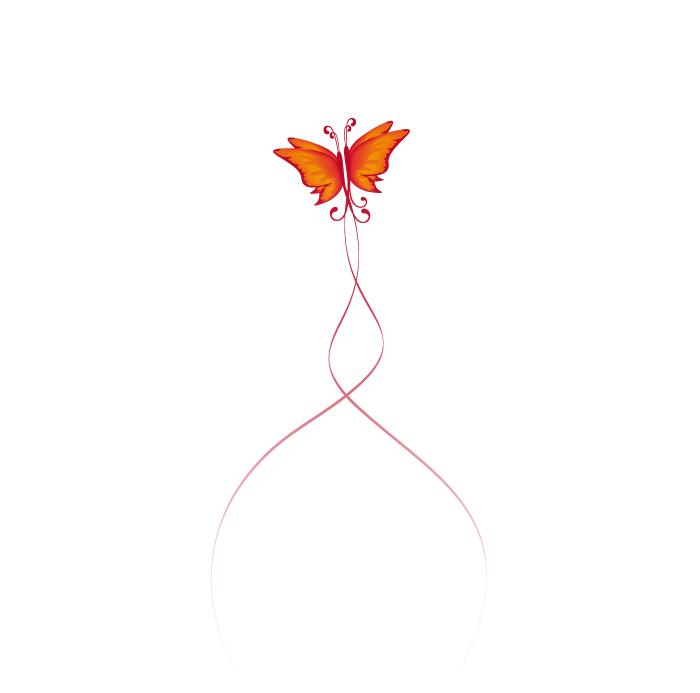 Visuel de deux papillons mariage
