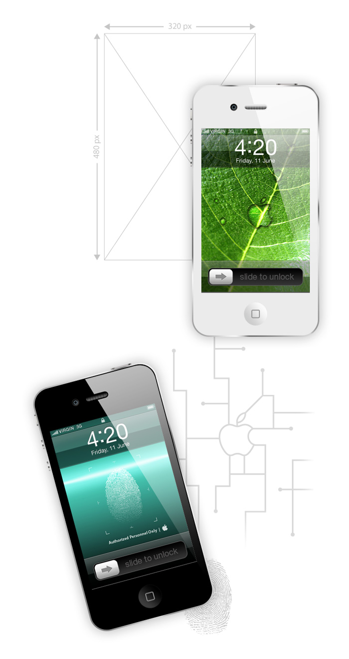 Visuel rendu wallpaper iPhone