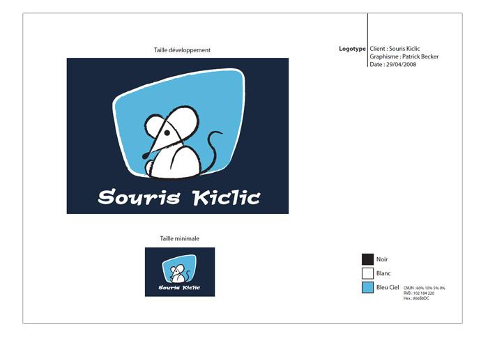 Charte logo négatif Souris Kiclic