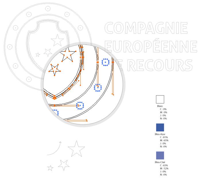 Visuel construction du logo CER
