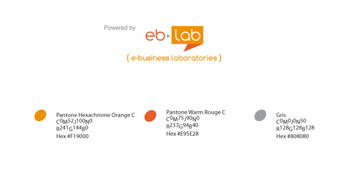 Couleurs du logo eb-lab