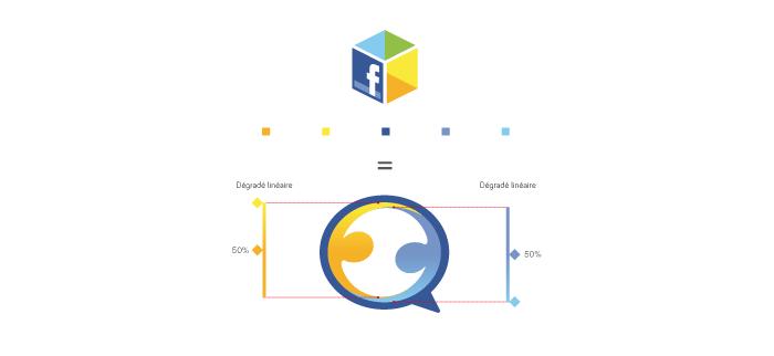 Couleurs du logo Social Buddies