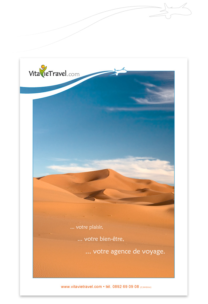 Couverture publicitaire VitavieTravel