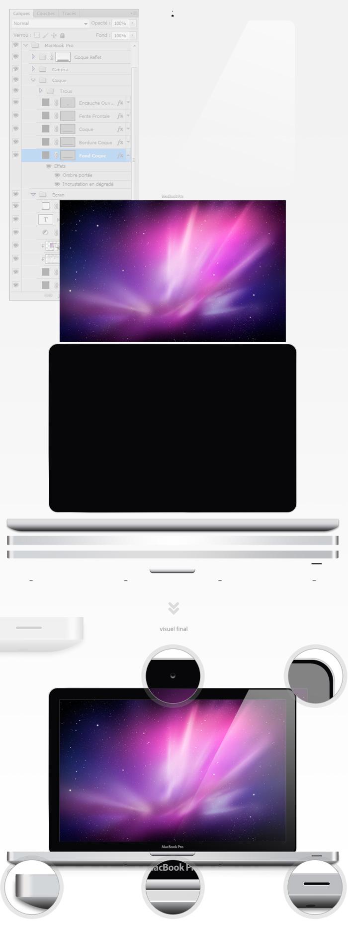Création du visuel Macbook Pro