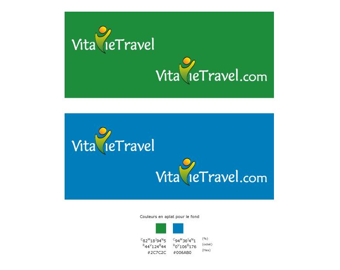 Déclinaison du logo négatif VitavieTravel
