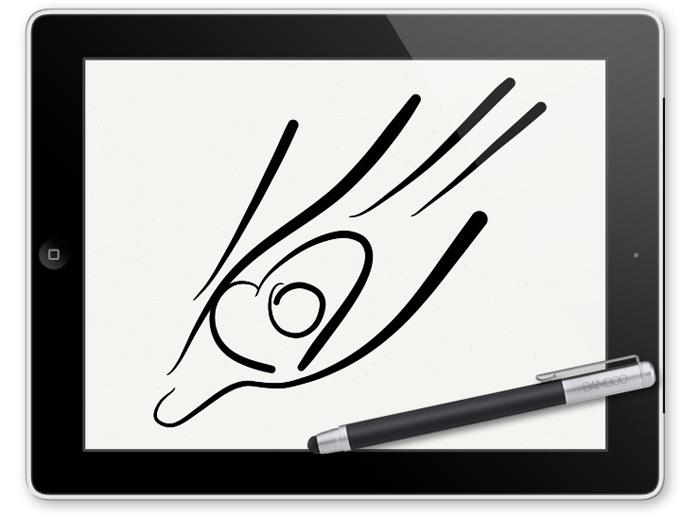 Dessin sur iPad du logo Marie