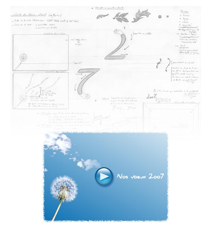 Elaboration carte de voeux 2007 VitavieTravel