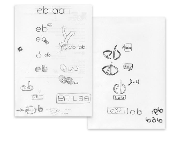 Esquisse logo eb-lab