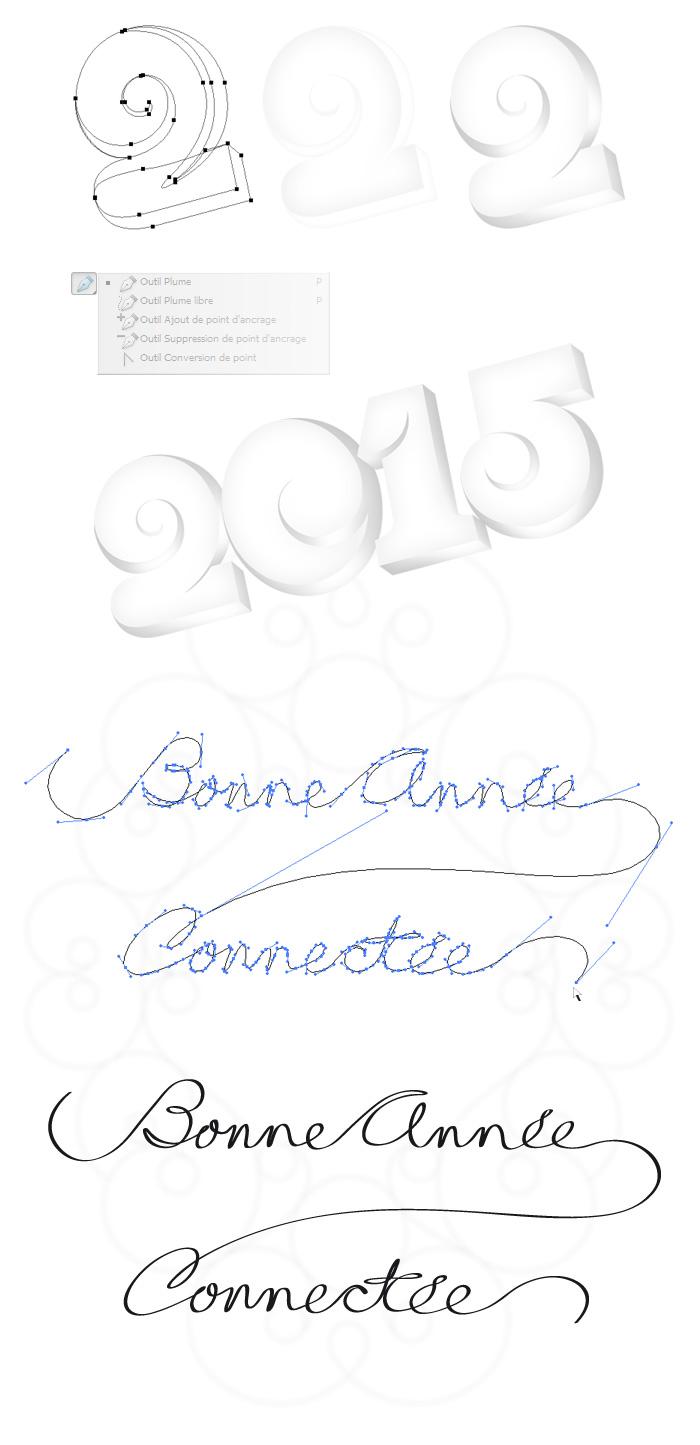 Formes vectorielles des voeux 2015
