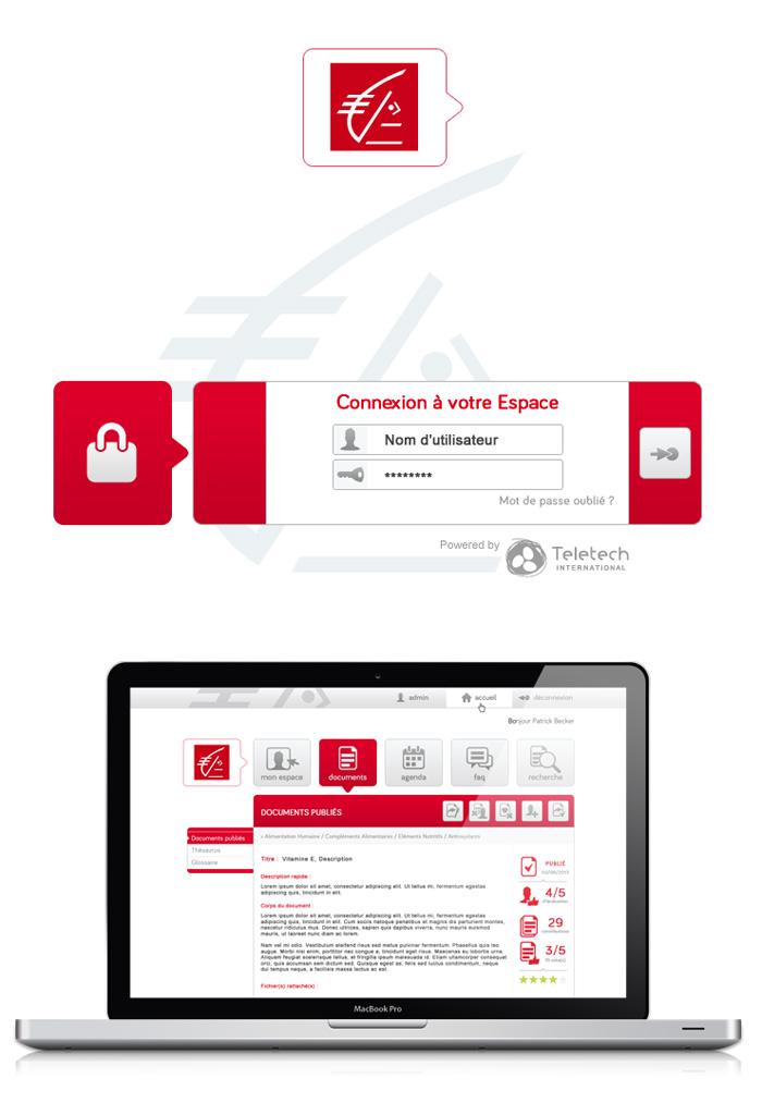 Interface de la Caisse d'Epargne NestKM