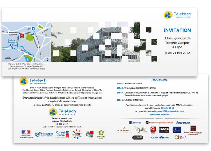 Invitation inauguration Teletech Campus