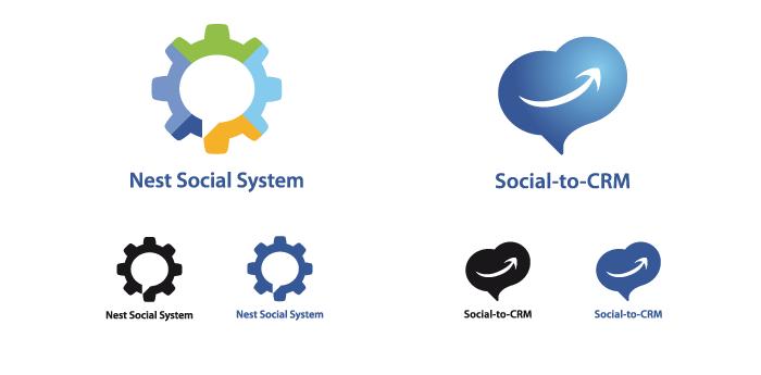 Logos Social-to-CRM et Nest Social System