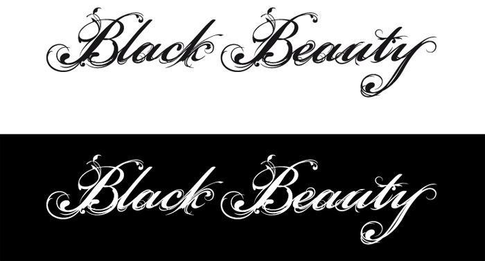 Typographie Black Beauty