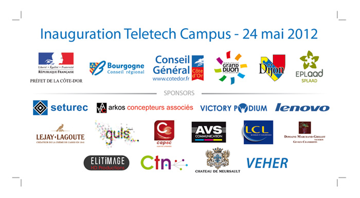 Panneau sponsors inauguration Teletech Campus
