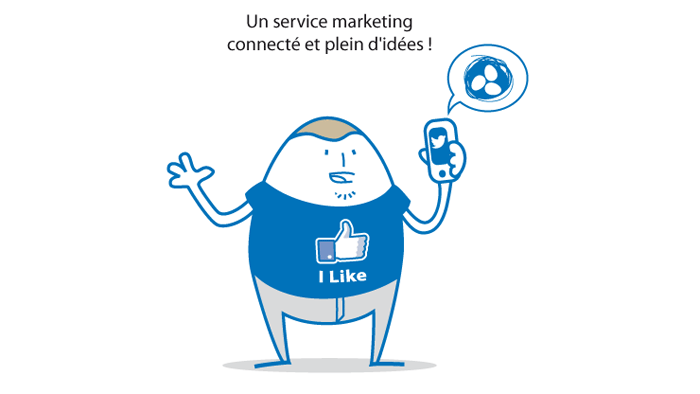 Personnage oeuf marketing