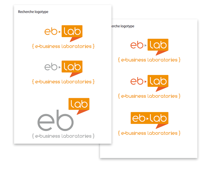 Recherche finale du logo eb-lab