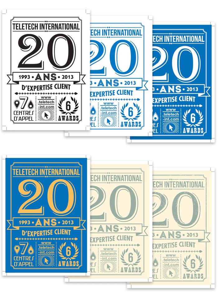 Recherche graphique 20 ans vintage Teletech