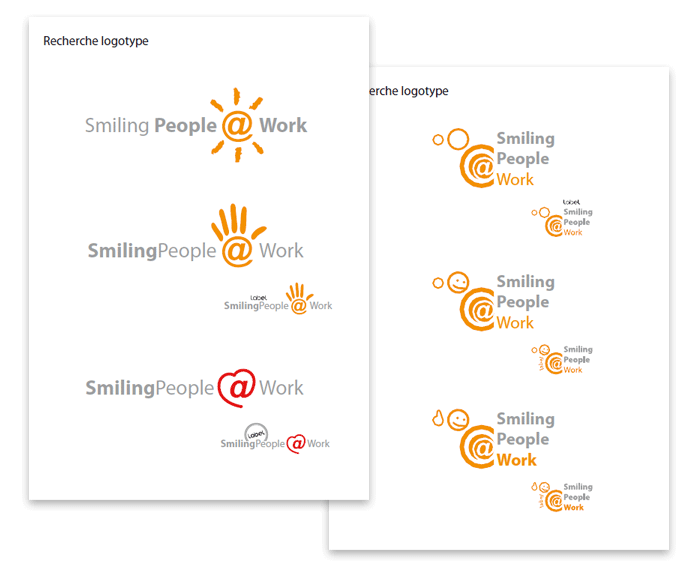 Recherche logo Smiling people at work