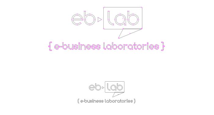 Tracé logo eb-lab