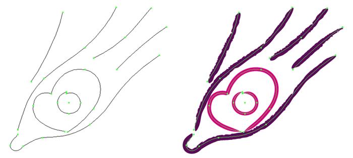 Travail de la forme du logo Marie