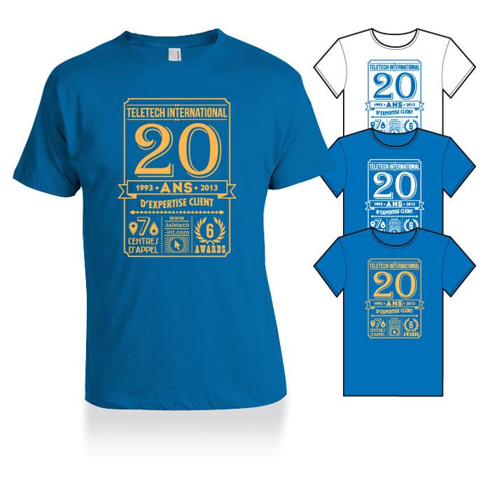 Tshirt 20 ans vintage Teletech