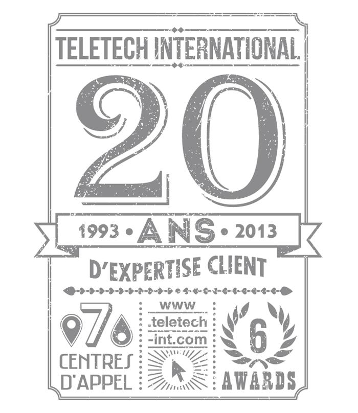 Visuel 20 ans vintage Teletech