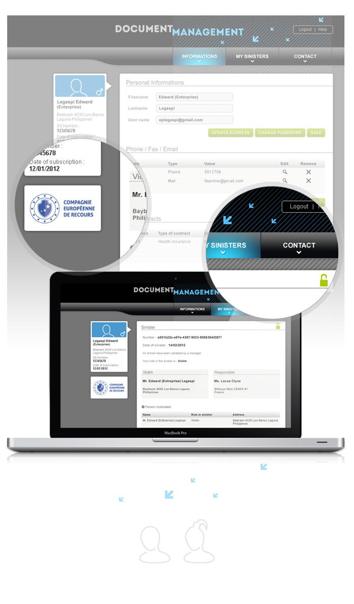 Visuel application web CER