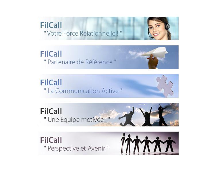 Visuel bandeaux du site web Filcall