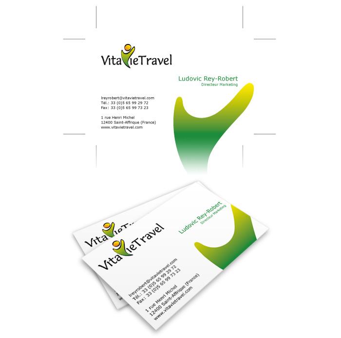 Visuel carte de visite VitavieTravel