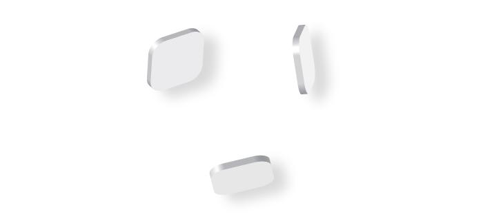 Visuel de formes 3d bouton appli