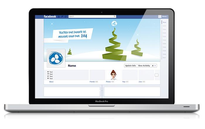 Visuel header Facebook Teletech voeux 2014