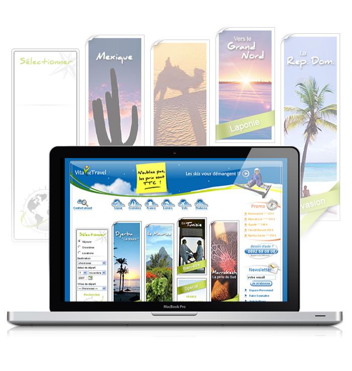 Visuel homepage site web de VitavieTravel