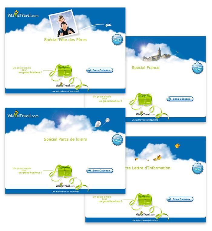 Visuel de modèles d'emailing VitavieTravel