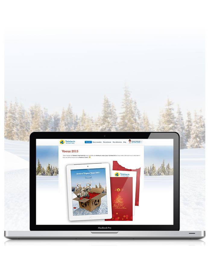 Visuel page web des voeux 2013