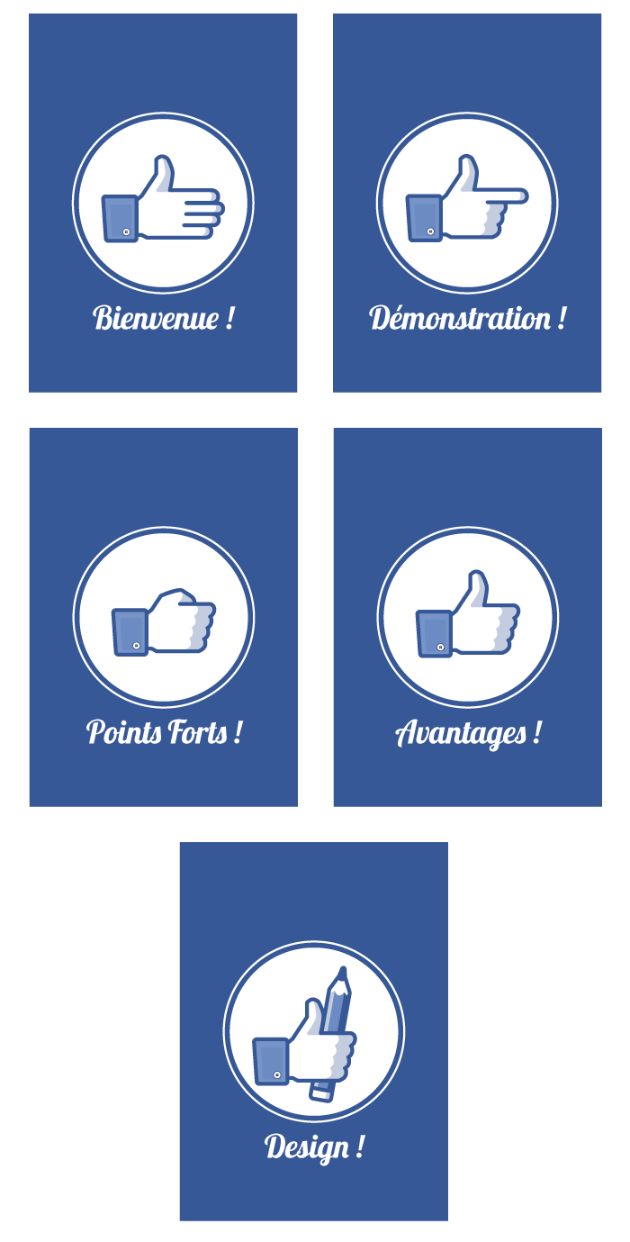 Visuel de pages avec main