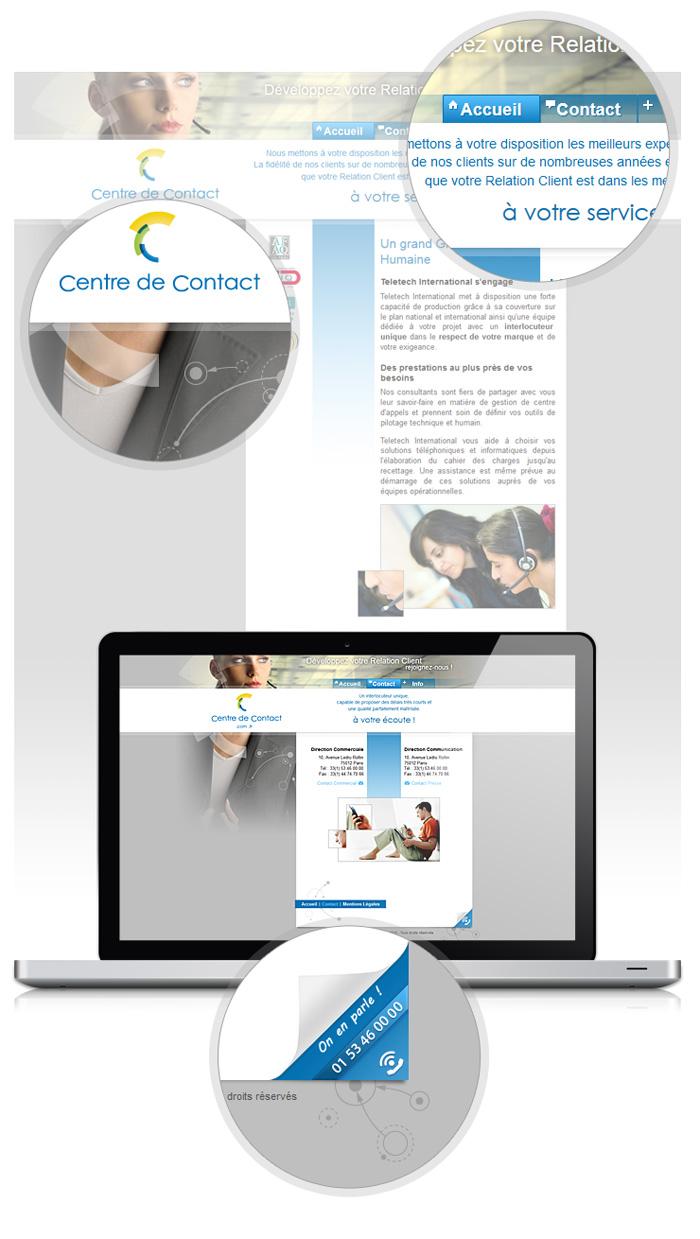 Visuel site Centre de Contact