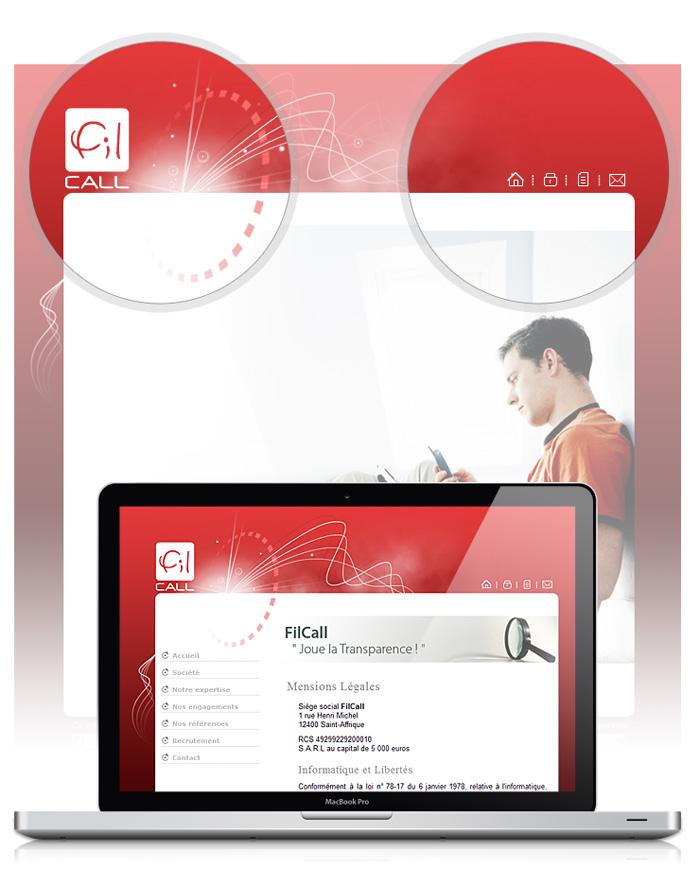 Visuel site web de Filcall