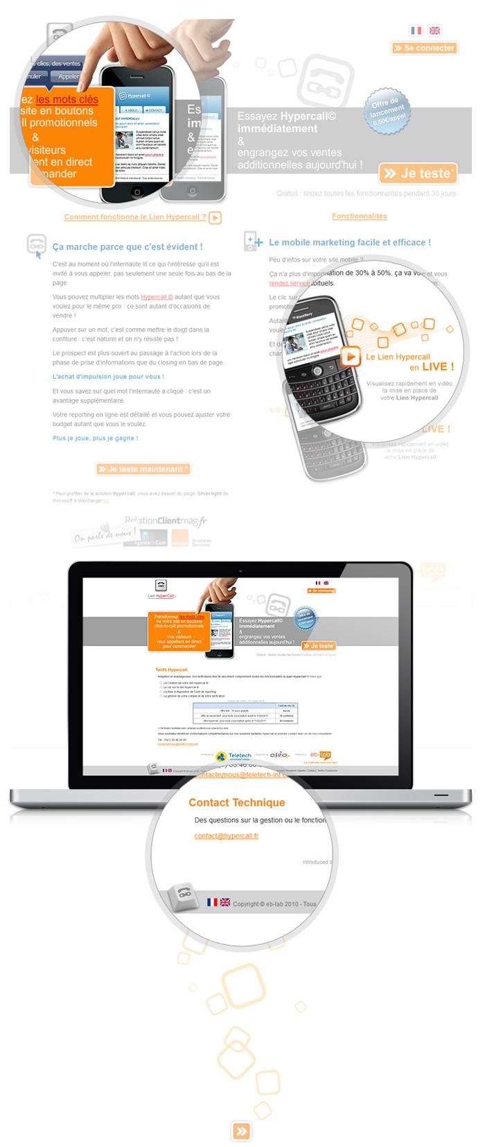 Visuel site web Lien Hypercall
