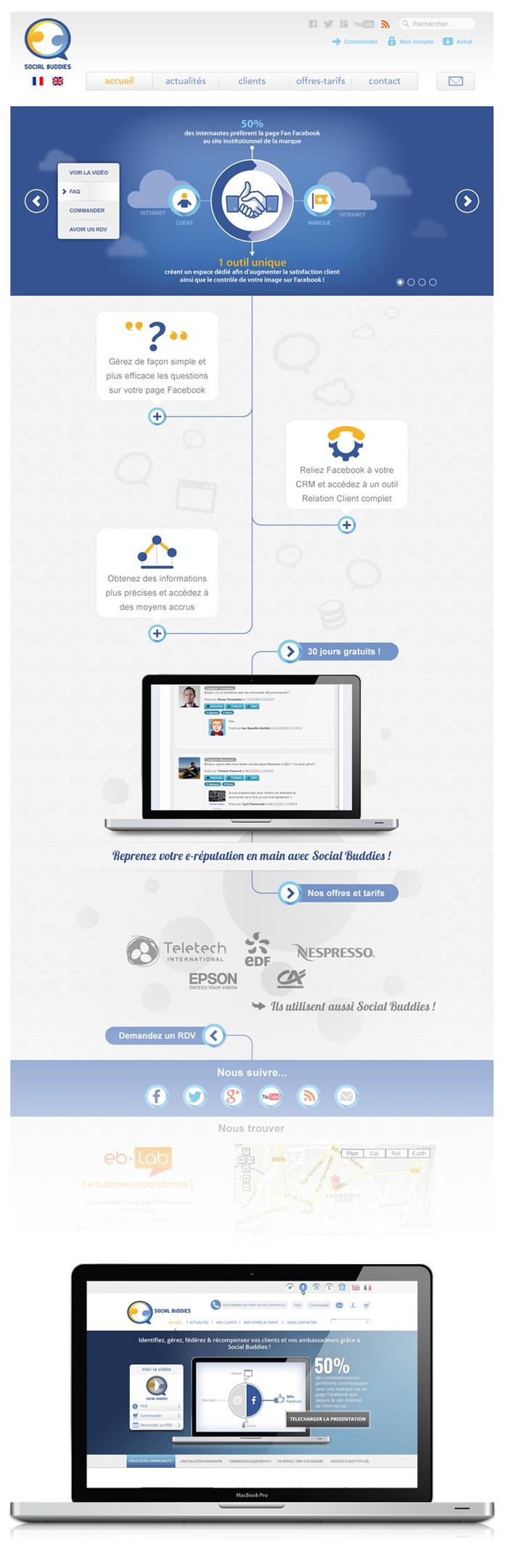 Visuel du site web Social Buddies