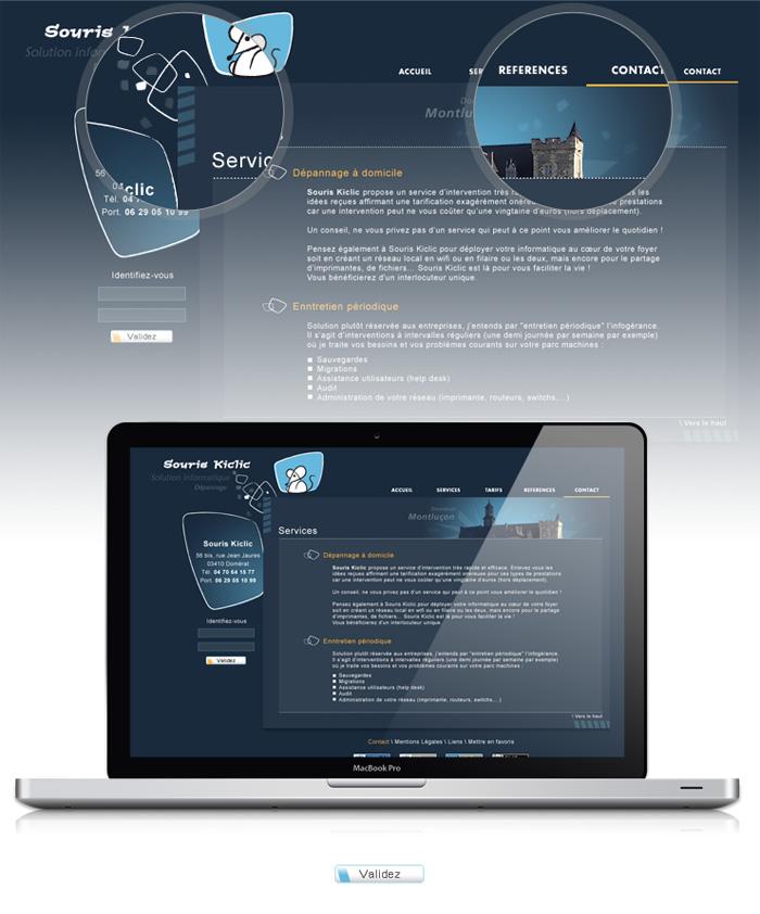 Visuel site web Souris Kiclic