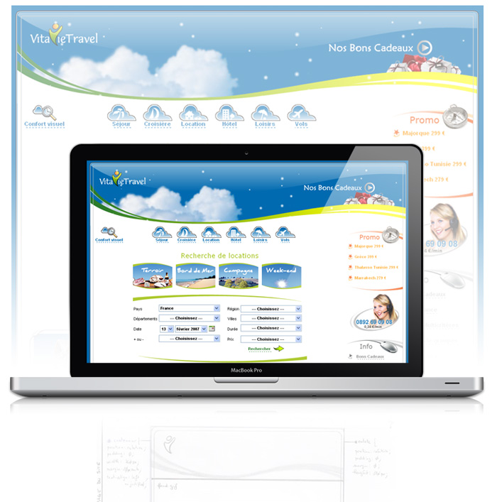Visuel du site web VitavieTravel