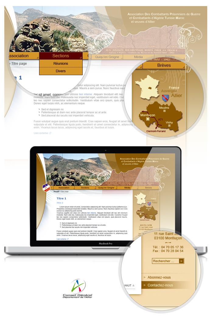 Visuel webdesign ADCPG
