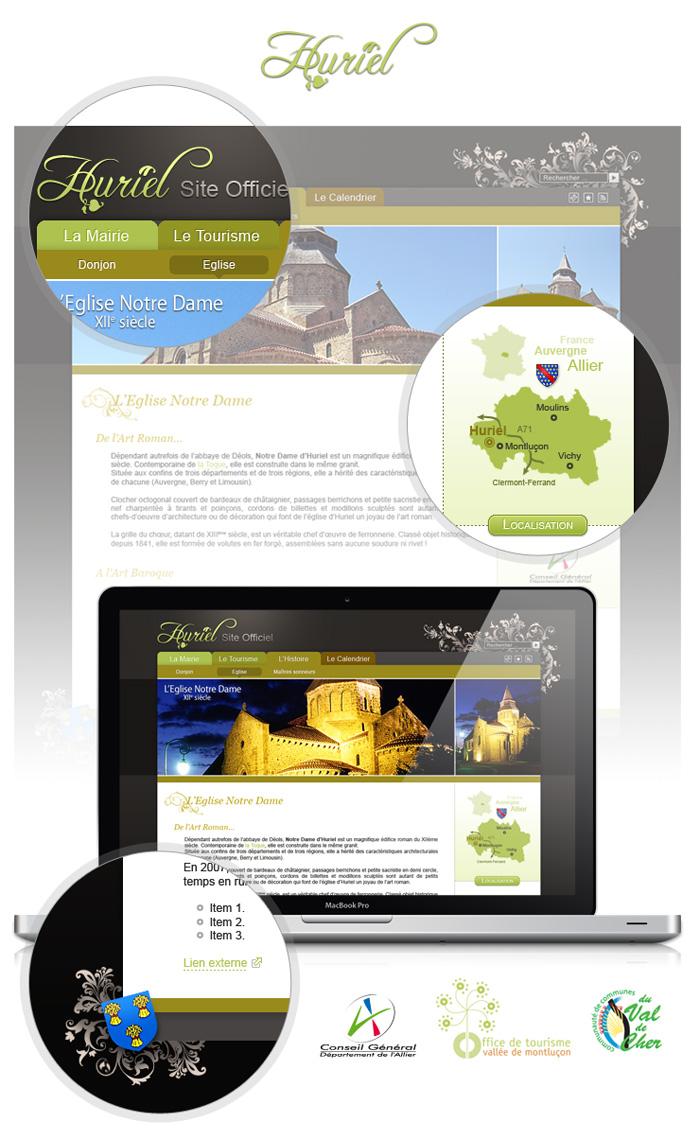 Visuel webdesign Huriel