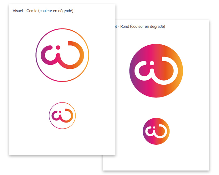 Charte du logo cercle wide-design
