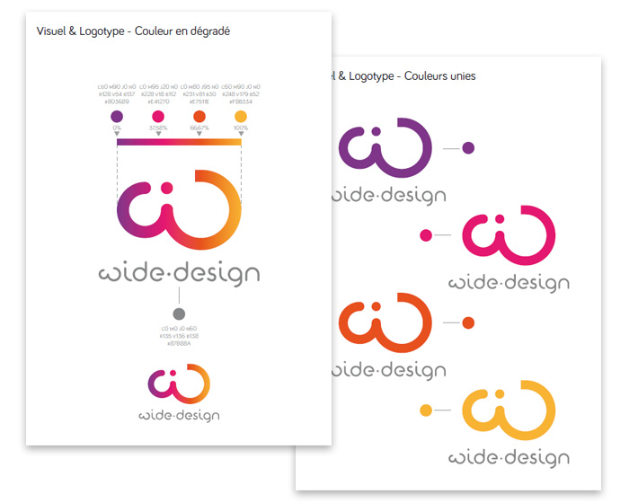Charte du logo construction couleur wide-design
