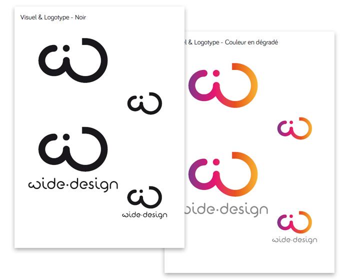 Charte du logo couleur wide-design