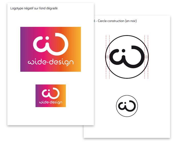 Charte du logo déclinaison wide-design