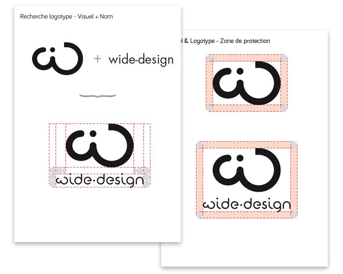 Charte du logo visuel et nom wide-design