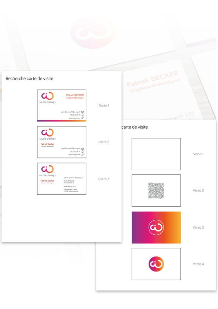 Recherche graphique de la carte de visite wide-design
